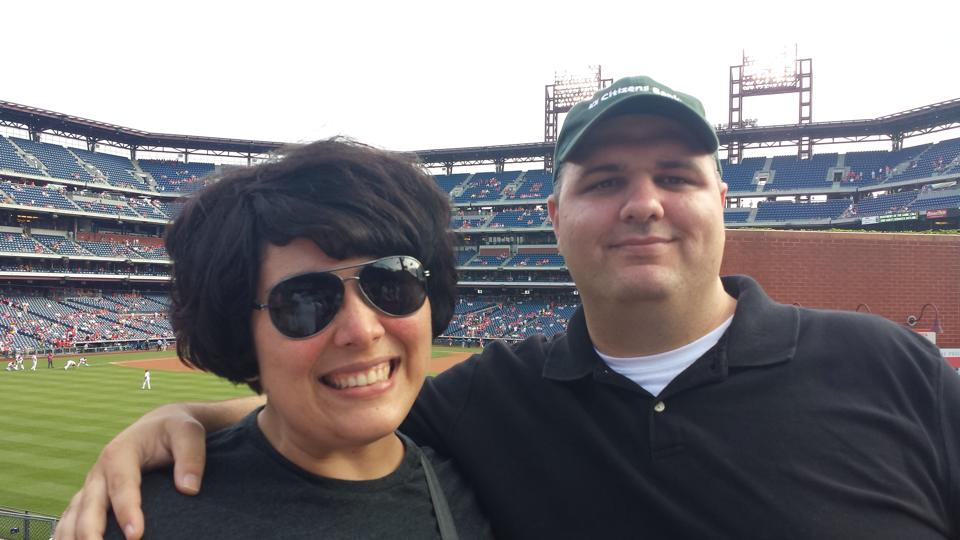 My sweetie and I at the Phillie's game!