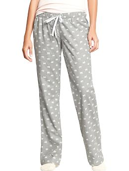 Women's Printed Flannel PJ Pants - Polar Bear