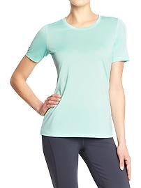 Women's Old Navy Active Space-Dye Tees - UP IN AIR POLYESTER